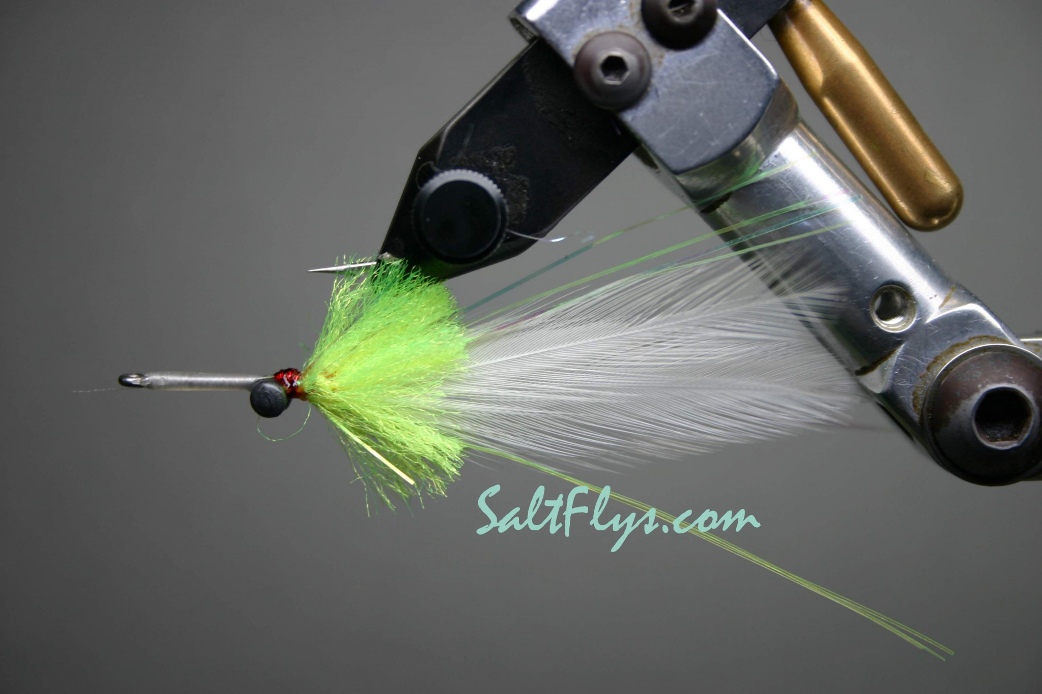 Bay Whistler Fly White-Chartreuse