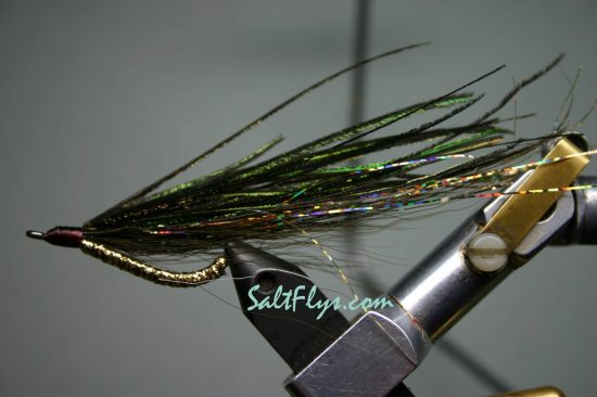 Green & Gold Bendback Fly