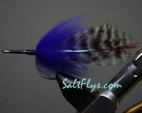 Grizzly & Purple Tarpon Fly