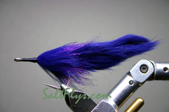 Deep Purple Double Bunny Tarpon Fly