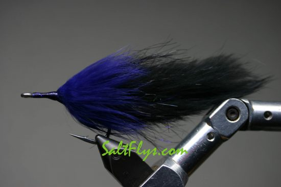 Purple & Black Tarpon Double Bunny Fly