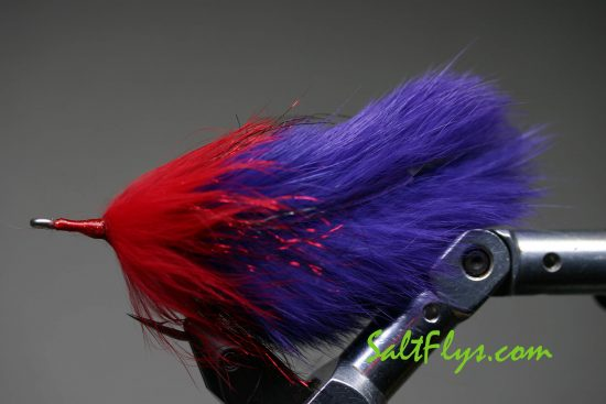 Purple Death Tarpon Double Bunny Fly
