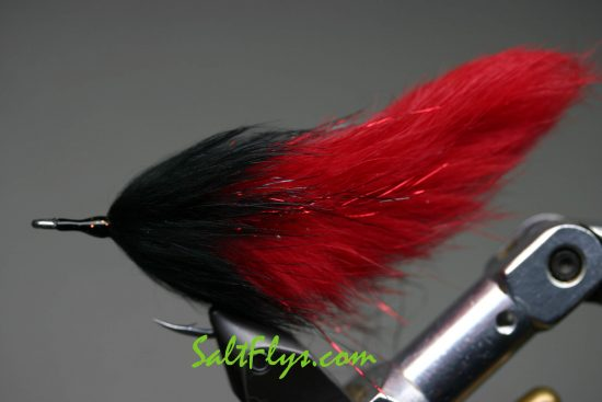 Red & Black Tarpon Double Bunny Fly